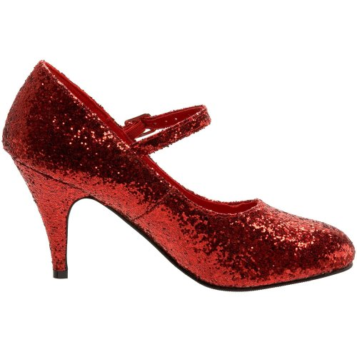 Funtasma by Pleaser Women's Glinda-50G Mary Jane Pump,Red Glitter,8 M US Glinda Shoes
