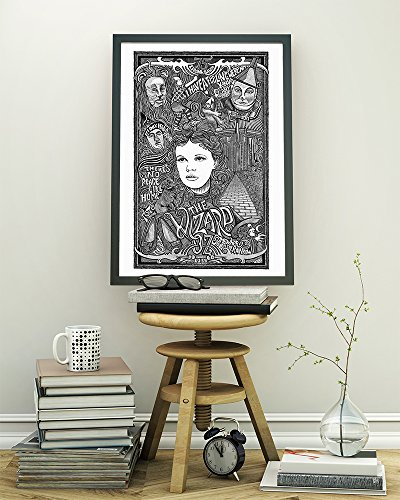 (The Wizard of Oz with Dorothy, Scarecrow, Tin Man, Cowardly Lion, the Wicked Witch and More! - Letterpress Art Print Poster - Detailed Pen and Ink Original Hand Drawing 11