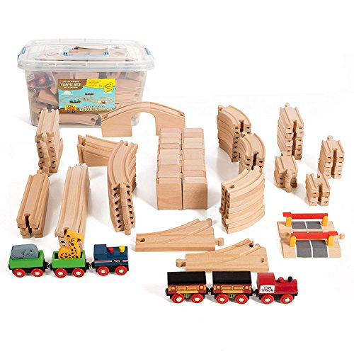l Wooden Train Expansion Pack, Comes In A Clear Container, Compatible With All Major Brands ()