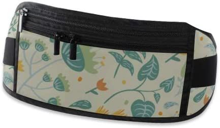 Travel Waist Pack,travel Pocket With Adjustable Belt Pattern Cute Doodle Flowers 2 Running Lumbar Pack For Travel Outdoor Sports Walking