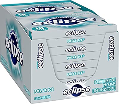 Eclipse Polar Ice Sugarfree Gum, 18 Piece (Pack of 8) from Wrigley