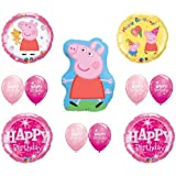 PEPPA PIG Happy Birthday PARTY Balloons Decorations Supplies by Balloon Emporium by Balloon Emporium
