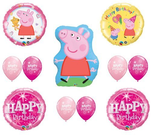 PEPPA PIG Happy Birthday PARTY Balloons Decorations Supplies by