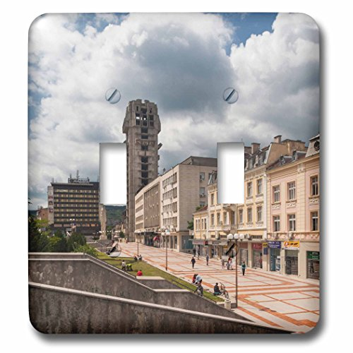 Danita Delimont - Architecture - Bulgaria, Shumen, unfinished Post Office tower - Light Switch Covers - double toggle switch (lsp_227083_2) (Office Post Tower)