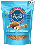 Heavenly Organics 100% Organic Whole Cane Sugar 1.25 lb (4 Pack); Evaporated Sugarcane Juice; Herbally Purified & Sun Dried, Non-GMO, Fairly Traded, Dairy Free, Nut Free, Gluten Free, Unrefined
