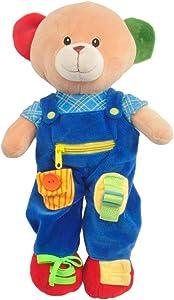 "Linzy Plush 16"" Education Bear Educational Plush"