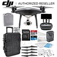 DJI Phantom 4 PRO+ PLUS Obsidian Edition Drone Quadcopter Includes Display (Black) Travel Case Starters Bundle