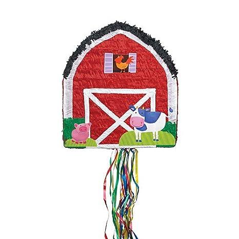 amazon com red barn pinata toys \u0026 games