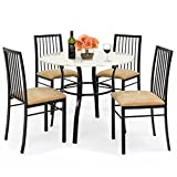 Best Choice Products 5-Piece Faux Marble Top Dining Table and Chairs Set Review