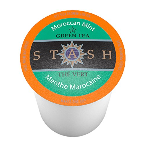 Stash Tea Moroccan Mint Single-Cup Tea for Keurig K-Cup Brewers, 40 (Cup Pod Brewer)