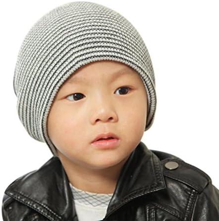 MOM concern 。ベビービーニーBoy 'sソフト帽子子供冬暖かいキッズニットキャップ