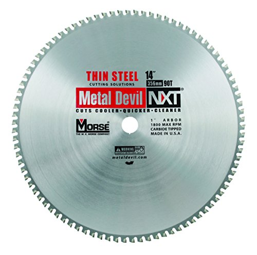 MK Morse CSM1490NTSC Metal Devil NXT Metal Cutting Circular Saw Blade, Thin Steel, 14-Inch Diameter, 90 TPI, 1-Inch Arbor