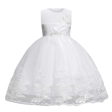 d8b89f3afe0be OHQ Enfant Bébé Robe De Soiree Fille Chic Mariage Courte Vintage Ronde  Roulé Fermeture Coton Princesse