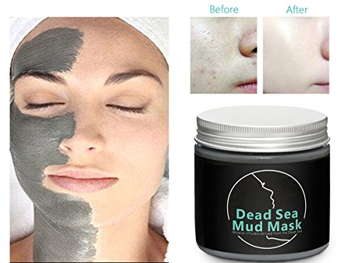 Dead Sea Mud Mask, iFanze Cleaning Black Mask, Dead Skin Blackhead Remover Deep Clean Peel Off Mask Cleanser, Natural Quality Clay Mask for Face Body Oil Decontamination