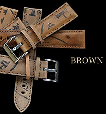 FLUCO Horween Shell Cordovan Reversed Leather Watch Strap Brown, 20mm