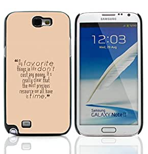 Graphic4You Favorite Things In Life Message Quote Hard Case Cover for Samsung Galaxy Note 2 Note II