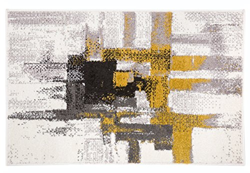 Rugshop Contemporary Modern Abstract Area Rug 2′ x
