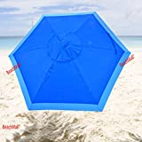 7 ft Deluxe Beach / Patio Umbrella UPF100 – Market Style with Hook Review