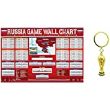 FIFA 2018 World Cup Trophy Keychain & Wall Chart Poster