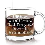 Favorite Grandchild Coffee Mug Gift for Grandma Grandmother Grandpa or Grandfather from Grandkids or Grandchildren for Mother's Day Gifts for Grandmas or Father's Day Presents for Grandpas or Grandad
