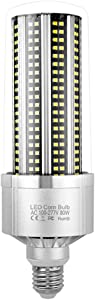 E27 LED Corn Light,80W 100W 120W LED Corn Light Bulb 5000K 360 456 504LEDs for Commercial lighting Cool White,100w