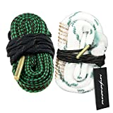 FUNANASUN ch-leash04 Bore Cleaner Snake AR Rifle Shotgun Gun Cleaning Kit for 9mm 5.56mm .223 .22 .308 12Ga (Choose More Calibers), 2 Piece