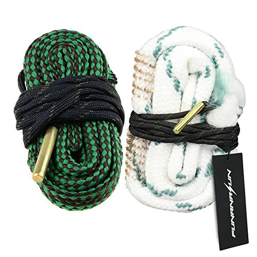 FUNANASUN ch-leash04 Bore Cleaner Snake AR Rifle Shotgun Gun Cleaning Kit for 9mm 5.56mm .223 .22 .308 12Ga (Choose More Calibers), 2 Piece by FUNANASUN