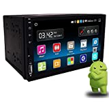 Yody Double Din Android 7'' High Definition 1024x600P Touch Screen Car Radio Stereo with GPS Navigation Bluetooth WiFi USB/SD/AUX/MP3/MP5/AM/FM/RDS Player,Mirror Link,Backup Camera,Microphone