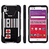 Cheap LG Tribute HD Phone Cover, NES Video Game Controller- Hexo Hybrid Armor Phone Case for [LG Tribute HD] with [Kickstand] by Mobiflare