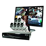 REVO America RT81B6GM22-1T T-HD 8-CH 2TB DVR Surveillance System with 6 T-HD 1080p Bullet Cameras (White)