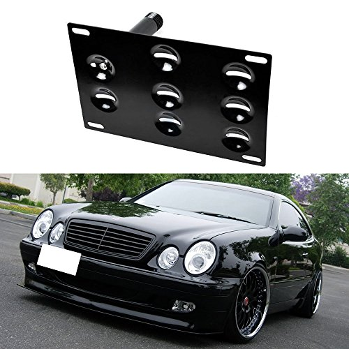 iJDMTOY Front Bumper Tow Hole Adapter License Plate Mounting Bracket For Mercedes W203 W210 W211 W219 W220 C208 C E S CLS CLK Class (Vdub License Plate Frame compare prices)