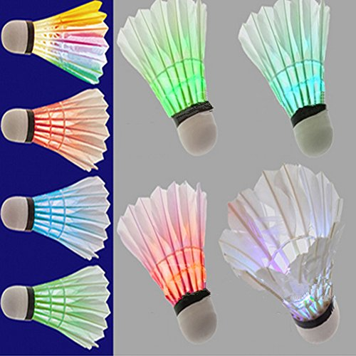 4Pcs Colorful LED Shuttlecock Badminton - 6