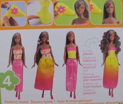 Amazon.com: Barbie CHRISTIE GLAMOUR SURPRISE Doll AA w COLOR CHANGE HAIR, Salon Chair & MORE! (2001 Multi-Lingual Box): Toys & Games