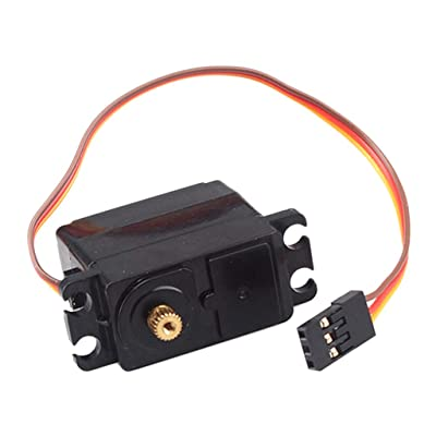 FY-S3 Steering Engine Servo Black for 1/12 Scale FY-01/FY-02/FY-03 RC Buggy: Toys & Games