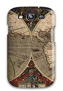 New Tpu Hard Case Premium Galaxy S3 Skin Case Cover(map)