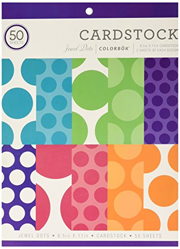 ColorBok 71857A Cardstock Paper Pad Jewel Dots, 8.5'' x 11'' by Colorbok