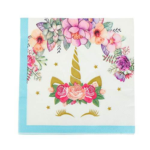 10 / 20Pcs Unicornio Tarjetas De Invitaciones Platos De ...