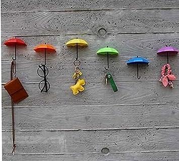 Amazon.com: Dhrob 3Pcs Colorful Umbrella Wall Hook Key Hair Pin ...