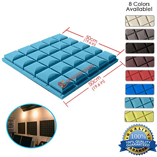 Dragon Dash  1 Piece  Of 19 6  X 19 6  X 1 9  Inches Baby Blue Acoustic Soundproofing Hemisphere Grid Type Foam Studio Treatment Wall Panel Tiles  Baby Blue