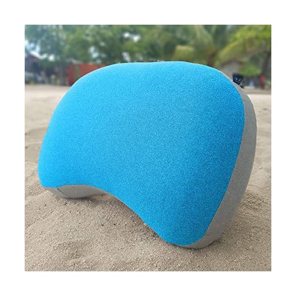 519WHW5jV6L Journext Aufblasbares Camping Kissen & Reisekissen - Weiche Oberfläche, Kompakt & Leicht - für Strand, Reise, Outdoor…