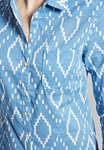 Manches Khujo Imprimé Bleu Femme Chemisier Longues q6EZxwpB6