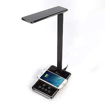Lámpara de escritorio LED Mesa plegable Luz Oficina QI Cargador de ...
