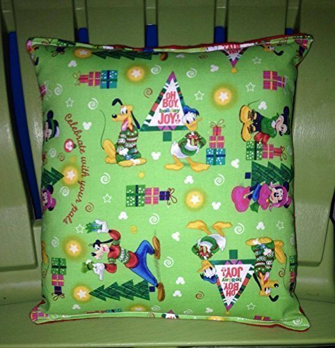 Mickey Mouse Pillow Santa Goofy , Minnie Mouse ,Pluto & Donald Duck HANDMADE Minnie Mouse Christmas Tree Pillow Made USA Pillow is aprox 10