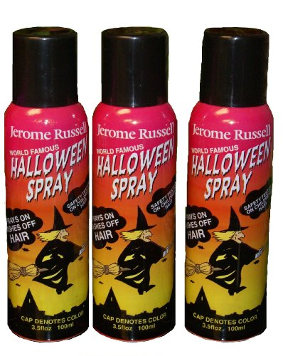 Jerome Russell Temporary Hair Color Halloween Spray - 3 Cans for Less Than the Price of 2! (Black) for $<!--$21.93-->