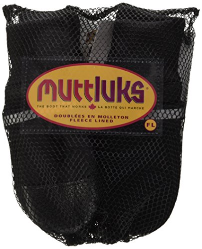 Image of Muttluks Fleece Lined Dog Boots - Set of 4, Large (3.75 to 4.25 inch), Black