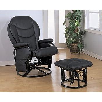 Amazon Com Coaster Home Furnishings Black Leatherette