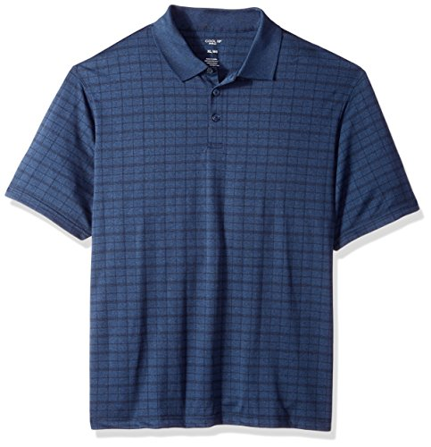 Haggar Men's Short Sleeve Marled Knit Polo, London Blue MARL, XXL (Short Sleeve Knit Polo Shirt)