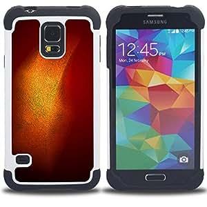 "Hypernova Híbrido Heavy Duty armadura cubierta silicona prueba golpes Funda caso resistente Para SAMSUNG Galaxy S5 V / i9600 / SM-G900 [Oro Brillante Brillo Naranja Pastel""]"