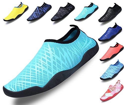 SIKELO Leichte Männer und Frauen Quick-Dry Sport Wasser Schuhe Blau