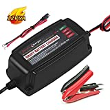 12V 5A Battery Charger Portable Battery Maintainer 4-Stage Smart Fast Charging for Car Boat Lawn Mower Marine Sealed Lead Acid Battery